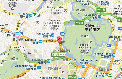 mappa di Tokyo